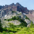 Three Fingered Jack (7,844 ft) from Canyon Creek Meadows.- Oregon's 75 Best Day Hikes