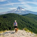 An incredible view of Mount Hood to the south.- Chinidere Mountain + Wahtum Lake Hike