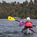 A kayaker makes her way to Carkeek Park.- Adventure in the City: Seattle