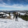 Ascending to Castle Peak.- Best Snowshoe Trails in Tahoe's Backcountry