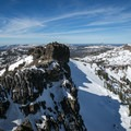 Castle Peak with Basin Peak in the background.- The Ultimate Ski Guide to Tahoe's Backcountry