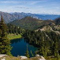 Doelle Lakes and surrounding peaks.- Washington's Best Backpacking Trips