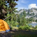 Campsite at Chain Lakes.- 70 Breathtaking Backcountry Campsites