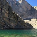 Chasm Lake and Longs Peak.- Climb a Mountain