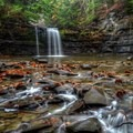 Bozenkill Falls in Christman Sanctuary.- Incredible Family Adventures for Fall Color