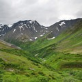 Along the Crow Pass Trail looking down the Crow Creek Valley.- Our Guide to Epic Alaskan Summer Explorations