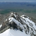 Looking down on Chicken Out Ridge from near the summit of Borah Peak.- 10 Ideal Summits for First-Time Mountaineering