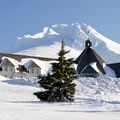 Classic scene of the Northwest.- Timberline Lodge