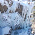Looking down into the Ouray ice park east.- Exploring 5 Frozen Wonderlands of America