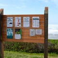 Information at Ocean Beach Picnic Area.- River Mouths, Shipping, and Trade along the Oregon Coast