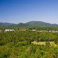 A closer view of the village.- 15 Must-see Fall Foliage Adirondack Adventures