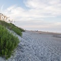 Evenings are beautiful at Coquina Beach.- 10 Summer Escapes to Cool Off in North Carolina