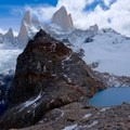 The rock formations are breathtaking at Mount Fitz Roy.- Laguna des los Tres