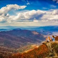 A beautiful view is always best when shared with a friend. - A Guide to Leaf-peeping Weekends in the Blue Ridge Mountains