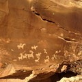 Ute petroglyphs on the way to the Delicate Arch.- Arches National Park