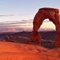Delicate Arch sunset at Arches National Park.- The Ultimate Utah National Parks Road Trip