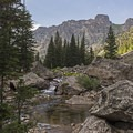 The first of the rocky beaches and brooks in upper Death Canyon.- Best Hiking in Grand Teton National Park