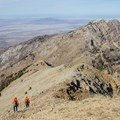 Deer hunters descend from the summit of Deseret Peak.- Climb a Mountain