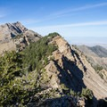 Looking north from the saddle above Pockets Fork on the descent from Deseret Peak.- Deseret Peak Wilderness