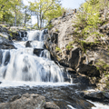 Enjoy the cooling mist from Chapman Falls along the Orange Vista Trail in southeastern Connecticut.- Perfect Summer Escapes to Cool Off in New England