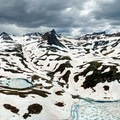 Frozen Ice Lake in late June (though ice is usually gone by late June).- Ice Lake + Island Lake Hike
