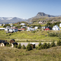 Overlooking the campground from atop the adjacent hill.- Guide to Iceland's Ring Road