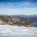 Mount Judah's summit (8,234 ft).- Winter Retreat in Tahoe