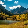 The Maroon Bells and Maroon Lake from the trail.- The Rockies' 15 Best Alpine Lakes