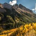 Pyramid Peak (14,026 ft) in Maroon Bells-Snowmass Wilderness.- Wander Among Wilderness Areas