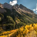 Pyramid Peak (14,026 ft) along the highway 82 Sawatch Road Trip.- The Best Leaf-Peeping Adventures for Fall Foliage