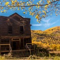 The front of the View Hotel in Ashcroft.- The West's Best Hikes for Fall Colors
