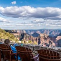 No better place for after-dinner drinks or morning coffee than the Grand Canyon Lodge.-  The West's Best Road Trips