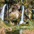 Rifle Falls from the bridge below.- 10 Incredible Colorado State Parks