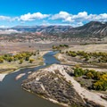 Island Park from the overlook.- Dinosaur National Monument