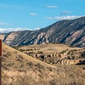 Entering the monument on the Island Park Road.- Dinosaur National Monument