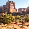 Beginning the Park Avenue hike from the Courthouse Towers end.- Canyonland Country: Best Hikes Near Moab
