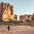 Walking along Park Avenue in Arches National Park.- OP Adventure Review: December 2-10, 2015