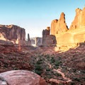 Looking down Park Avenue from the trailhead.- A 4-day Adventure Guide to Moab, Utah