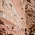The Horseshoe Gallery rock art at Horseshoe Canyon.- Canyonland Country: Best Hikes Near Moab