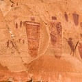 Portion of the Grand Gallery in Horseshoe Canyon.- National Treasures: Utah's Native Rock Art