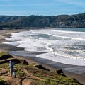 View south at Pacifica State Beach.- Best West Coast Beaches for Beginner Surfers