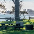 Bluff-side campsite at New Brighton Campground.- Guide to Bay Area Camping