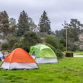 Tent camping at New Brighton.- 3 Days of Outdoor Adventure in Santa Cruz