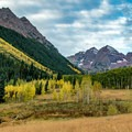 View of Maroon Bells from Maroon Creek Road.- 30 Spectacular Fall Adventures in Colorado
