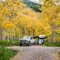 Silver Queen Campground along Maroon Creek Road.- Guide to Camping in Colorado
