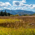 Looking back toward the Elk Mountains from the Hunter Creek Trail.- Highway 82: A Sawatch Road Trip