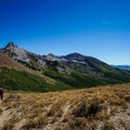 Hiking out of the sagebrush on the Ruby Crest Trail.- Ruby Mountains Wilderness