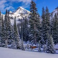 Idaho's Pioneer Yurt with Hyndman Peak in the background.- 10 Winter Huts You Should Visit