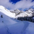 Skinning up for a morning lap above Pioneer Yurt.- 10 Winter Huts You Should Visit