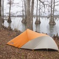 Tent camping inside Lake Bruin State Park.- 5 Ways to Find Your Louisiana Adventure